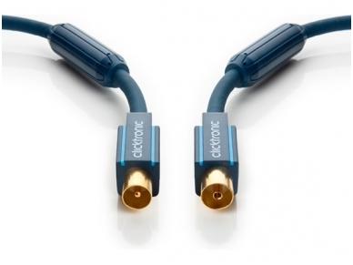 TV anteninis kabelis IEC-F/IEC-M 95dB, 2 m, CLICKTRONIC 2