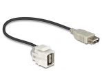 USB 2.0 A F - A F perėjimas, Keystone, 250L 0.3m