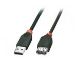 USB 2.0 ilgiklis 2m, juodas