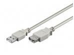 USB 2.0 ilgiklis 5m (A-A), pilkas