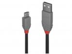 USB 2.0 kabelis  A - Micro B, 0.2m, Anthra Line