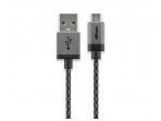 USB kabelis A kištukas - micro B kištukas 2m, lankstus