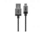 USB kabelis A kištukas - micro B kištukas 1m, lankstus