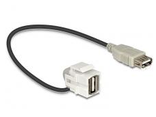 USB 2.0 A F - A F perėjimas, Keystone, 110L 0.3m