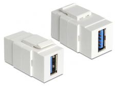 USB 3.0 A F - A F perėjimas Keystone baltas