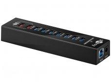 USB 3.0 šakotuvas 9 jungčių, 2x 2.4A