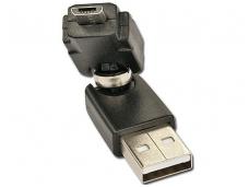 USB A (M) - micro B (M) perėjimas, 360L, Lindy