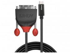 USB-C 3.1 į DVI-D kabelis 0.5m 1920x1200 60Hz