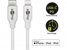 USB-C - Lightning kabelis 1m baltas