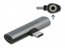 USB-C perėjimas į USB-C, audio 3.5mm 4k F