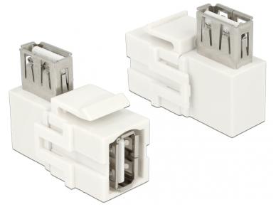 USB 2.0 A F - A F kampinis perėjimas Keystone