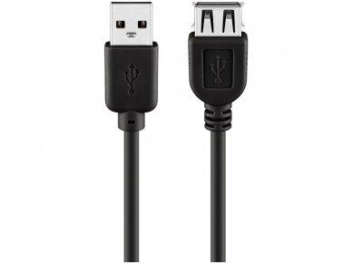USB 2.0 ilgiklis 1.8m (A-A) juodas