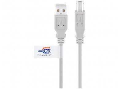 USB 2.0 kabelis 3.0m (A-B) 2
