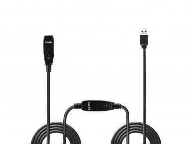 USB 3.0 ilgiklis 15m su stiprinimu, Lindy 2