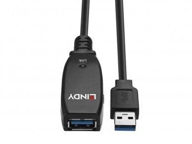 USB 3.0 ilgiklis 15m su stiprinimu, Lindy 4