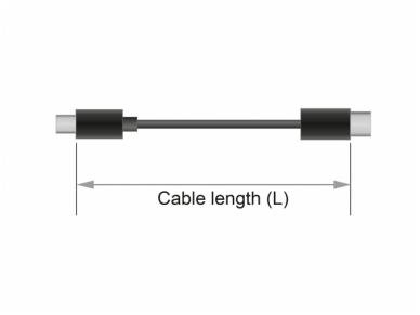 USB-C 3.1 Gen 1 ilgiklis 0.5m 3A 3