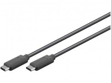USB-C 3.1 kabelis 2m 5 Gbit/s, juodas