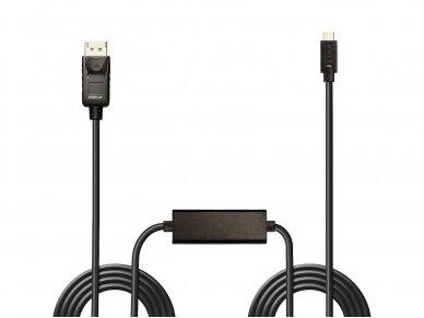 USB-C į DisplayPort kabelis 5m 4K 60Hz HDR 2