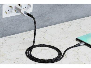 USB-C kabelis 2m, tekstilė 9