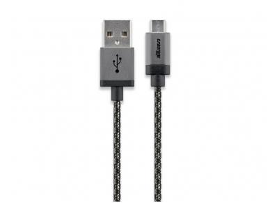 USB kabelis A kištukas - micro B kištukas 3m, lankstus 2