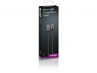 USB kabelis A kištukas - micro B kištukas 3m, lankstus 4