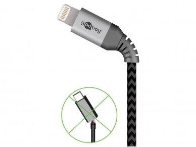 USB kabelis A - Lightning 2m tekstilė 3