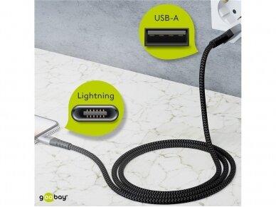 USB kabelis A - Lightning 2m tekstilė 5