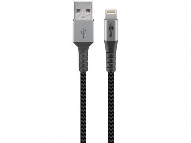 USB kabelis A - Lightning 2m tekstilė 2