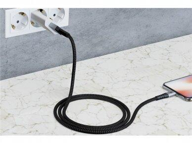 USB kabelis A - micro B 0.5m, tekstilė 7