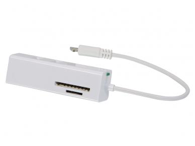USB OTG 3p šakotuvas su SD, micro SD skaitytuvu, USB Micro-B 2