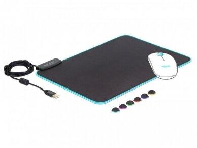 USB pelės kilimėlis su RGB, 350x260x3mm