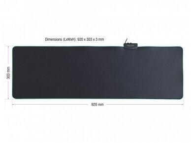 USB pelės kilimėlis su RGB, 920x303x3mm 3
