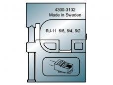 Užspaudimo įrankio Pressmaster RJ11 6/6 įdėklas