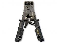 Užspaudimo įrankis RJ45/11/12 jungtims + matuoklis, Lindy
