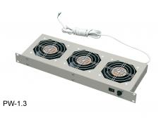 """Ventiliatorių panelė su 3 - ventiliatoriais, 19"""", 1U"""