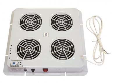 Ventiliatorių blokas, 4 ventiliatoriai su  termostatu