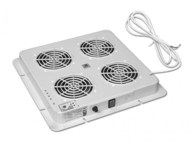 Ventiliatorių blokas, 4 ventiliatoriai su  termostatu 2