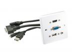 VGA, HDMI, USB, 3.5mm Stereo panelė
