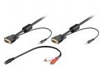 VGA kabelis, audio 15M-15M 3.5mm 5m