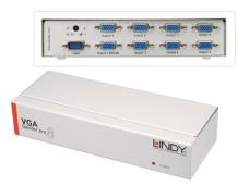 VGA šakotuvas 1>8 2048x1536, 450Mhz, iki 55m, Lindy