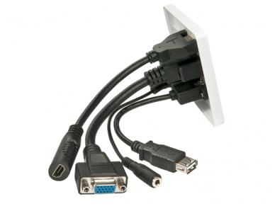 VGA, HDMI, USB, 3.5mm Stereo panelė 2