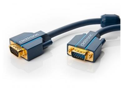 VGA kabelis 15M-15M 15m, 2560x1600, Clicktronic