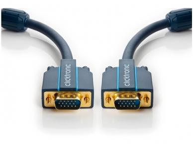 VGA kabelis 15M-15M 2m, 2560x1600, Clicktronic 2