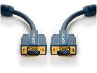 VGA kabelis 15M-15M 5m, 2560x1600, Clicktronic 2