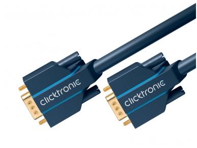 VGA kabelis 15M-15M 5m, 2560x1600, Clicktronic 3