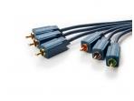 Video YUV kabelis 3xRCA - 3xRCA 1m Clicktronic