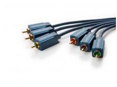 Video YUV kabelis 3xRCA - 3xRCA 10m Clicktronic