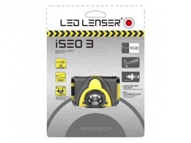 Žibintuvėlis LED LENSER iSEO 3 3xAAA 100Lm, geltonas 2