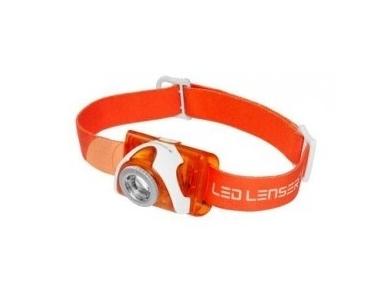 Žibintuvėlis LED LENSER SEO 3 3xAAA 100Lm, oranžinis