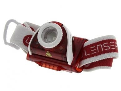 Žibintuvėlis LED LENSER SEO 5 3xAAA 180Lm, raudonas